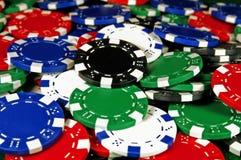 Poker Chips. Pile of Poker chips for gambling Stock Photography