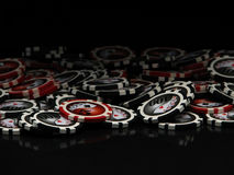 Poker chips. Isolated on black Royalty Free Stock Photo