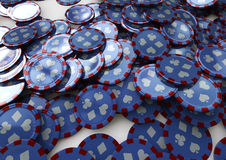 Poker chips. Mass of poker chipscovering whole image Royalty Free Stock Photo