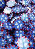 Poker chips. Mass of poker chips covering whole image Stock Image