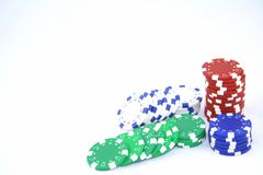 Poker chips 2. Poker chips isolated on a white background Stock Photo