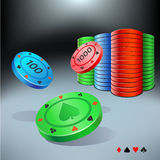 Poker chips Stock Photography