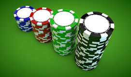 Poker chips Royalty Free Stock Image