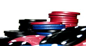 Poker Chips. A large stack of poker chips Stock Photography