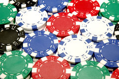 Poker Chips. Stacks of Poker Chips Royalty Free Stock Photography