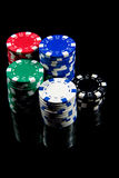 Poker chips Stock Photos