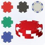 Poker chips stock photo
