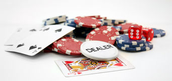 Free Poker Chips And Cards Stock Photo - 11606420