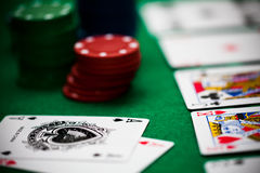 Free Poker Chips And Cards Royalty Free Stock Image - 28878316