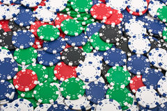 Poker Chips Background Stock Photography