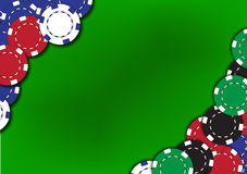 Poker chips background Royalty Free Stock Photography