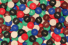 Poker chips background Royalty Free Stock Images