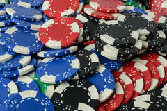 Poker Chips Background Royalty Free Stock Image