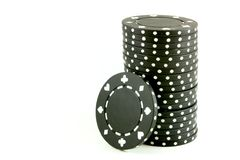 Poker Chips - Black stock photos