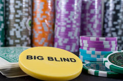 Poker Chips and Cards Royalty Free Stock Images