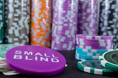 Poker chips and cards Stock Image