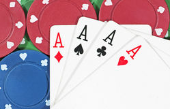 Poker Chips & Cards stock photography