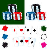 Poker Chips And Cards Royalty Free Stock Image
