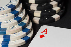 Poker chips and cards. High resolution image. Poker chips and cards. High resolution image depicting gambling industry stock image