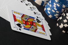 Poker chips and cards. High resolution image. Poker chips and cards. High resolution image depicting gambling industry royalty free stock photos