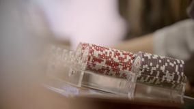 Poker Chips Close Up stock video