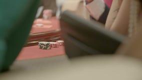 Poker Chips Close Up arkivfilmer