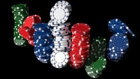Poker chips. 3D poker chips, black background Stock Images
