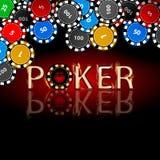 Poker chips. Icon for your design. stock illustration