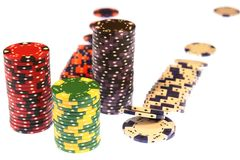 Poker Chips Isolated Casino Royalty Free Stock Image
