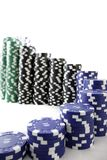 Poker chips leading up in s curve staircase Stock Photography