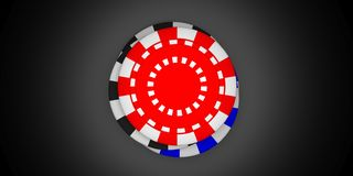 Poker chips pile isolated on black background, top view. 3d illustration vector illustration
