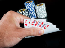 Poker chips Playing cards Royalty Free Stock Photo
