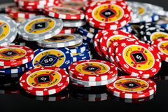 Poker chips Playing cards stock image