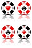 Poker chips set (01) Stock Images