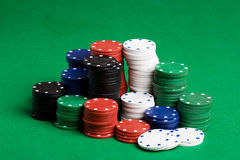 Poker Chips Stack Royalty Free Stock Images