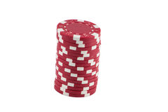 Poker Chips. Stacks of Poker Chips and Casino chips isolated Stock Photos
