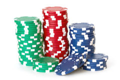 Poker chips Royalty Free Stock Photo