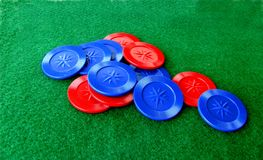 Poker Chips and Table Stock Images