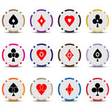Poker chips 08 Stock Photography