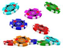 Poker Chips (Tumbling) Stock Photo