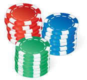 Poker chips vector Royalty Free Stock Image