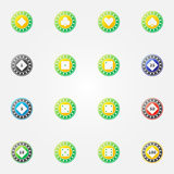 Poker chips vector bright icons Royalty Free Stock Image
