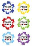 Poker chips vektor Royalty Free Stock Images