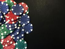 Poker Chips VIII Stock Photo