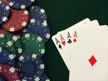 Poker Chips XII stock images