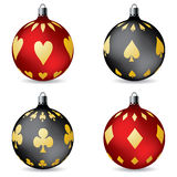 Poker christmas decorations Stock Photo