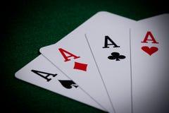 Poker close-up Stock Photos