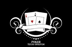 Poker club. Illustration for a poker website Royalty Free Stock Photo