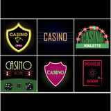 Poker club and casino emblem Stock Images