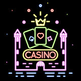 Poker club or casino vector background Royalty Free Stock Image